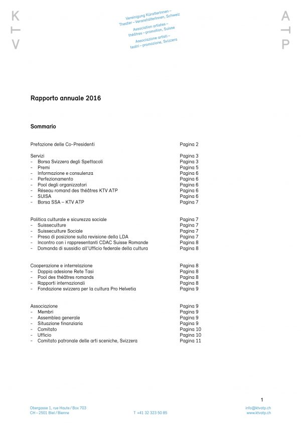 Rapporto annuale 2016